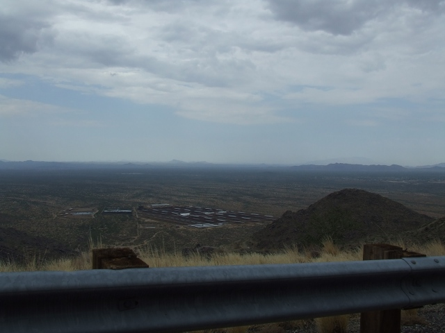 overlook from the mountains above Phoenix