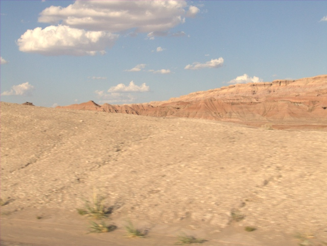 Sandstone mesas in the desert
